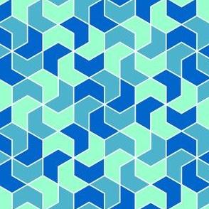 03286235 : chevron 6 x3 X : cool blues