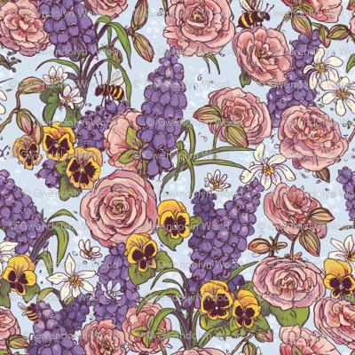 Springflowerpatternblue_preview