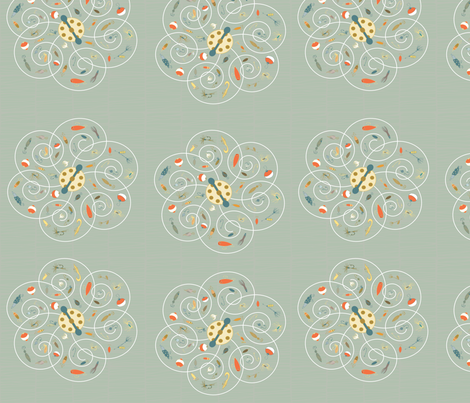 Spinners Sage fabric by pamela_hamilton on Spoonflower - custom fabric