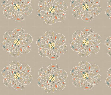 Spinners Taupe fabric by pamela_hamilton on Spoonflower - custom fabric