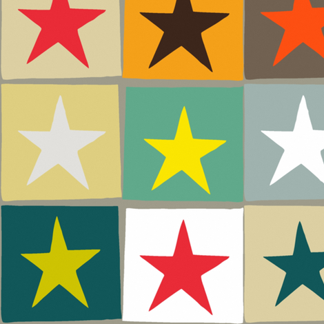 retro boxed stars large fabric by scrummy on Spoonflower - custom fabric