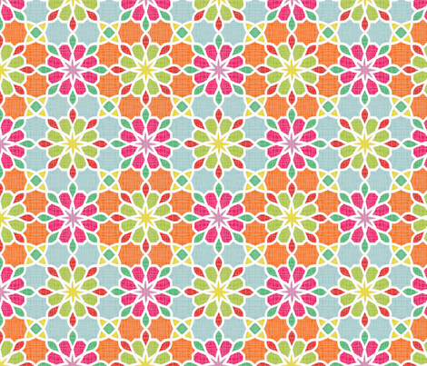 ASSILA multicolor fabric by ginger&cardamôme on Spoonflower - custom fabric