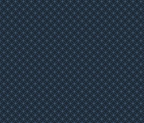 ATSURO blue indigo stitch fabric by ginger&cardamôme on Spoonflower - custom fabric