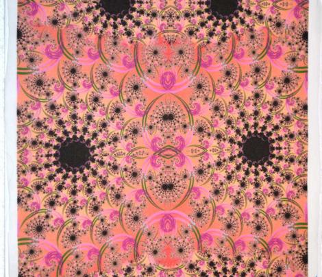 Coral Pink Fractal Swirls 2