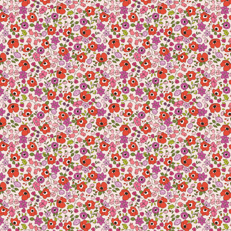 Poppy Floral fabric by primsociety on Spoonflower - custom fabric