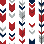 Fletching Arrows  (small scale) // Grey/Red/Navy