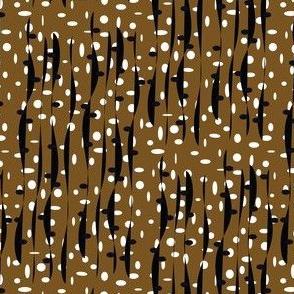 Seaweed in brown, black & white
