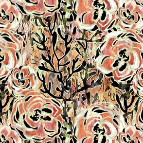 Euro Floral Dark Copper Rose