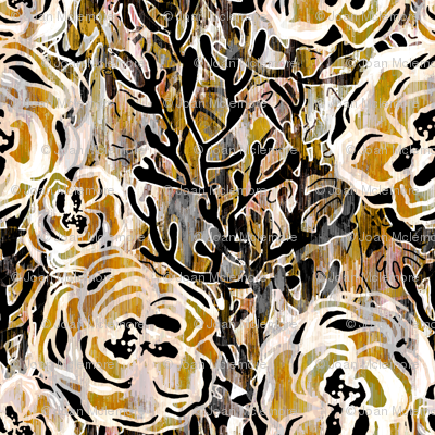 Vienna Deco floral in taupe