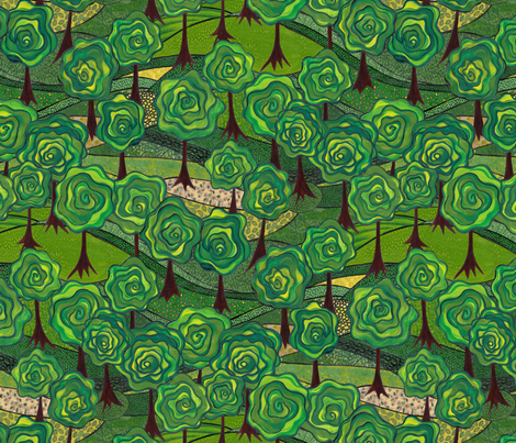 grove groove fabric by bippidiiboppidii on Spoonflower - custom fabric
