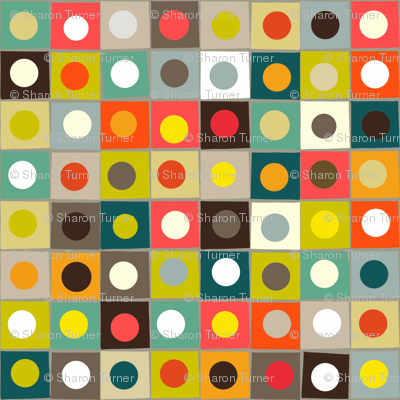 retro boxed dots