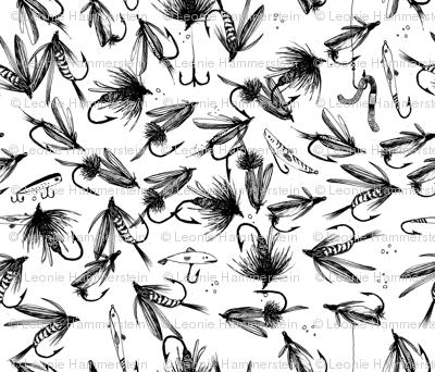Flyfishing black white