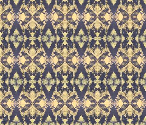 Tribal in Blue fabric by leah_quinn_design on Spoonflower - custom fabric