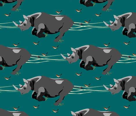Hitching a ride fabric by moirarae on Spoonflower - custom fabric