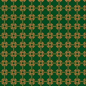 square knot orange - navy-ch