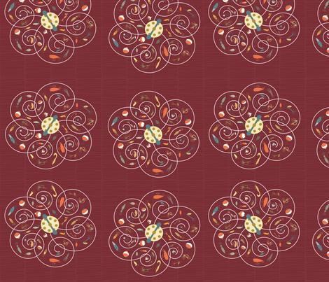 Spinners Wine fabric by pamela_hamilton on Spoonflower - custom fabric