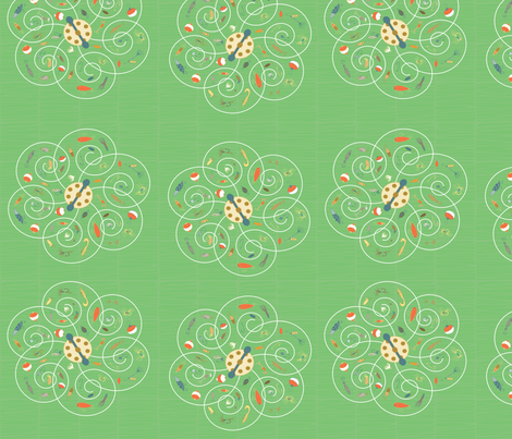 Spinners Key Lime fabric by pamela_hamilton on Spoonflower - custom fabric
