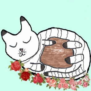Kitten in a Rose Garden-FQ