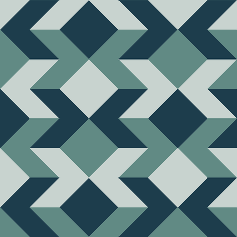chevron square 2x x3 fabric by sef on Spoonflower - custom fabric