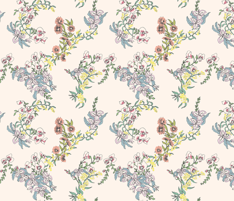 Flower Girls Floral fabric by elliewhittaker on Spoonflower - custom fabric
