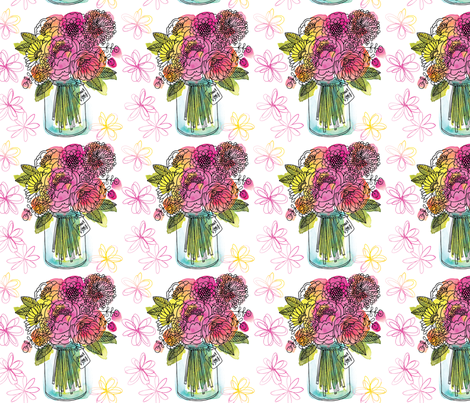 Bouquet fabric by cynthiafrenette on Spoonflower - custom fabric