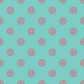 Button Dots Purple on Teal (Lovely)