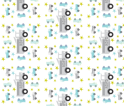 Truck star-gray -Vertical personalized RDFD fabric by drapestudio on Spoonflower - custom fabric