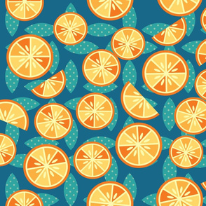 TANGERINE SLICES ( Aqua)