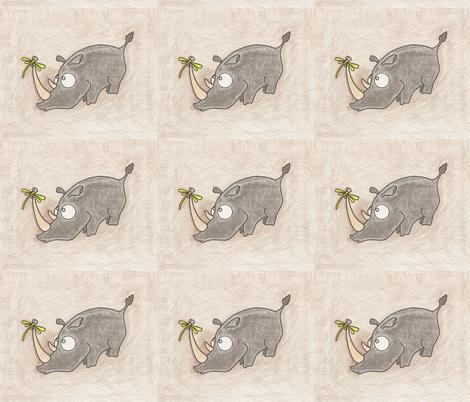 Rhino and Fizz fabric by natashagrace on Spoonflower - custom fabric
