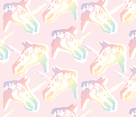 Unicorn X-Ray fabric by robynie on Spoonflower - custom fabric