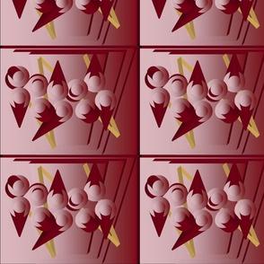 Cones in Burgundy
