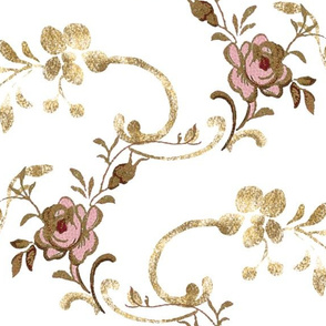Petit  Trianon ~ Calling Card ~ Gilt Scroll
