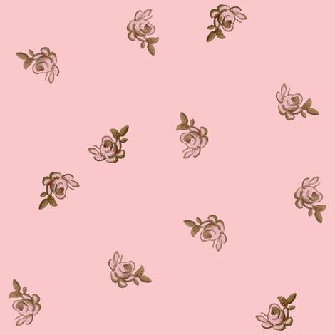 Petit Trianon ~ Rosebud Calico ~ Dauphine fabric by peacoquettedesigns on Spoonflower - custom fabric