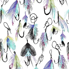 Feather Fly in Watercolor