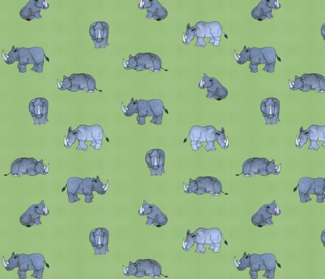 Rhinos fabric by ottdesigns on Spoonflower - custom fabric