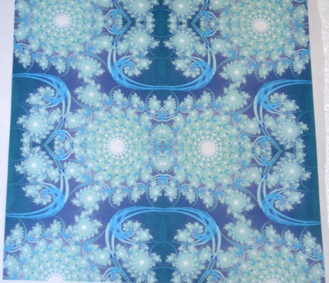 Blue-green Fractal Swirl