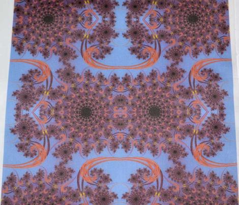 Twilight Rust Fractal Swirl