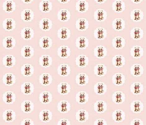 Teddy_Rustic_Pink fabric by thistleandfox on Spoonflower - custom fabric