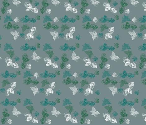 Herbs on grey fabric by designseventynine on Spoonflower - custom fabric