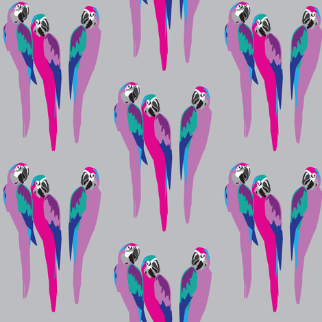 Disco parrots fabric by designseventynine on Spoonflower - custom fabric