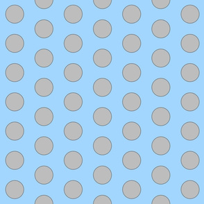 Big Polka Dot - blue/grey