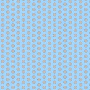 Medium Polka Dot - blue/grey