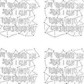 My thoughts are stars I cannot fathom into constellations the fault in our stars john green