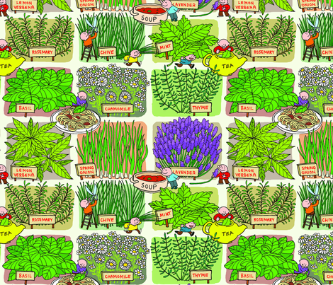 herb garden fabric by margreetdeheer on Spoonflower - custom fabric