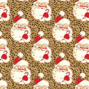 Santa Leopard Christmas  size changed to med size