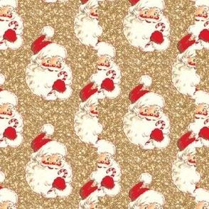 Santa Glitter Sparkle Gold Christmas!