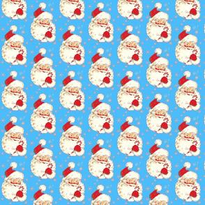Santa Bright Blue! Christmas