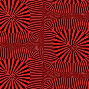 Red and Black Op Art