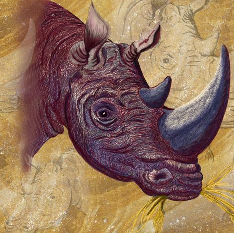 Chipembere... Rhino...  fabric by house_of_heasman on Spoonflower - custom fabric