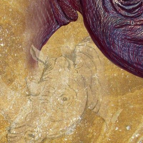 Chipembere_Rhino....Four to a Yard on 42 inch fabric.